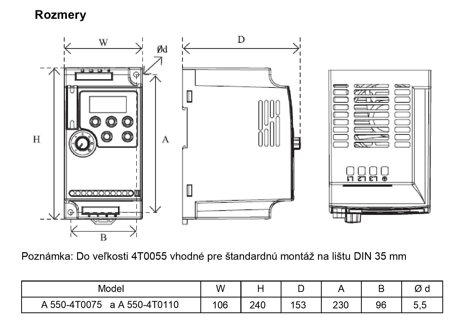 frekvenční měnič 11kw A550