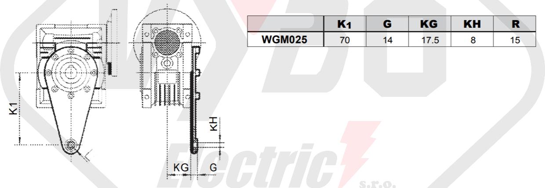 torzní rameno převodovka WGM025