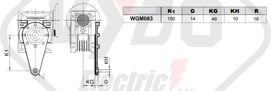 torzní rameno šneková převodovka WGM063