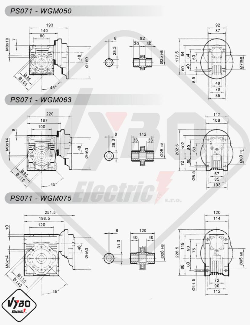 schémy zapojení mezipřevodovka čelní PS071