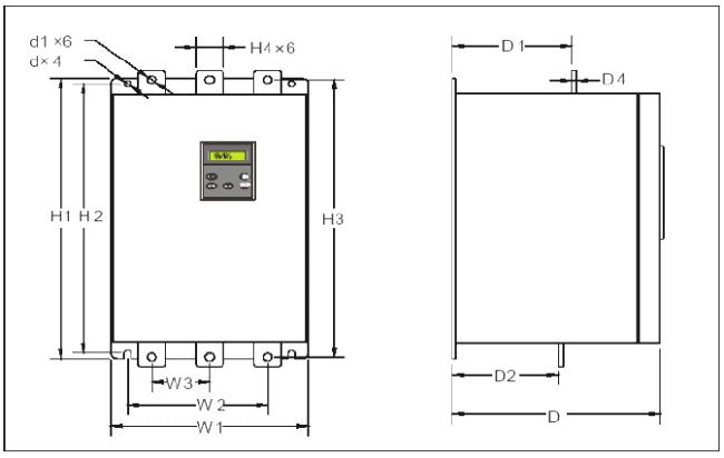rozměry soft startér vybo electric